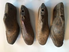Shoe lasts cobbler lot, handmade Spain, early 20th century.