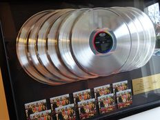 The Beatles - Capitol Records 10x platinum In-house award - Sgt. Peppers Lonely Hearts Club Band