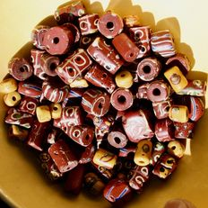 86 antique Venetian glass beads - African trade - early 20th century