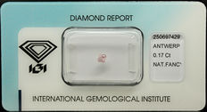 0.17 ct Natural Fancy  Pink Diamond – NO RESERVE