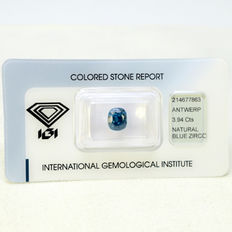 Blue - zircon - 3.94ct