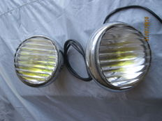 Carello 128-TO - Vintage additional headlights -  fog lights ca. 14 cm