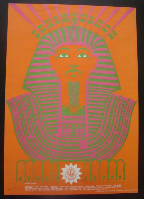 "Steve Miller Blues Band Family Dog Psychedelic Poster San Francisco ""Sphinx Dance"" Victor Moscoso 1967"