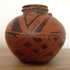 Pre-Columbian Carchi-Narino pottery with elaborate geometric decoration - 13 cm