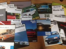Mazda - 38 items (brochures, price lists etc.) - 1976/2001