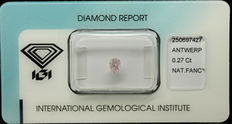 0.27 ct Natural Fancy  Pink Diamond – NO RESERVE