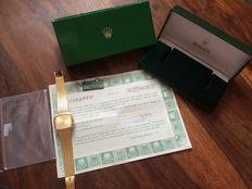 Rolex Cellini Vintage 18k Yellow Gold Mechanical Wristwatch with original papers