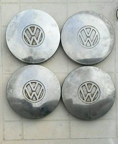 4x old VW Oldtimer hub caps - approx. 1960-1970