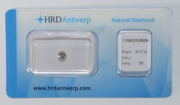0.17 ct brilliant cut diamond, TW (L) ecg, SI1.