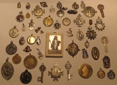 Variety of religious St Benedict items