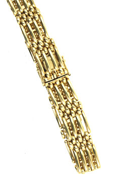 Gold bracelet made of solid 585/14kt yellow gold - 19.5cm