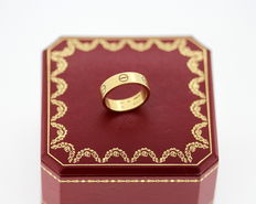 "Cartier -  ""Love"" 18K Gold Ring - Size UK :P US:8 EU :56 1/4"