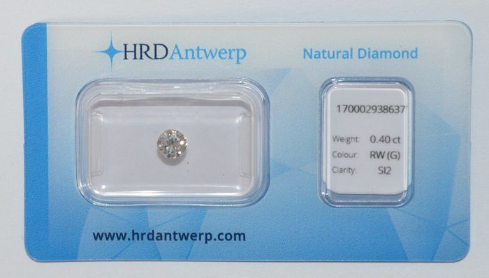 0.40 ct brilliant cut diamond, RW (G), SI2