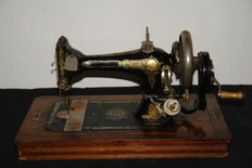 Antique Dutch-made hand sewing machine, early 20th century