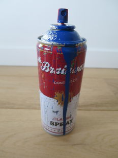 Mr Brainwash - Spray Can (Bleu)