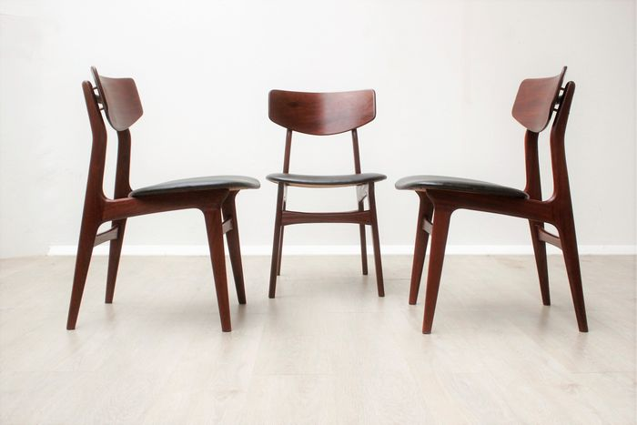Astonishing Designer Unknown 3 Vintage Mid Century Modern Chairs Gmtry Best Dining Table And Chair Ideas Images Gmtryco