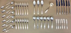 Silver plated cutlery set, six person, 46 pieces, 1847 Rogers Bros