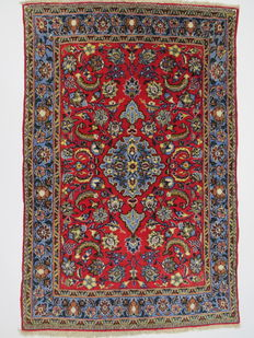 Wonderfully beautiful Persian carpet Qom Iran 160 x 106 cm, end of the 20th  century. In top condition, fine