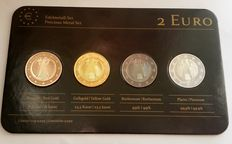 Germany - 2 Euros 2011 'Precious Metals' (4 different coins) in set