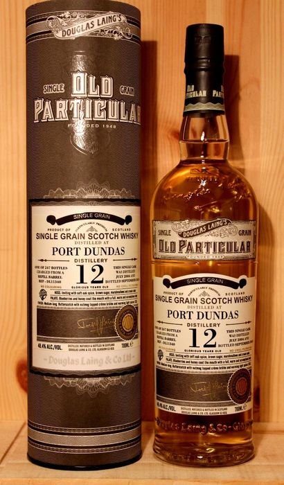 Port Dundas 12 years old - Single Grain Scotch Whisky incl. Box,  Old Particular / Douglas Laing & Co, closed distillery