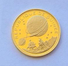 Republic of Guinea – 2,000 Guinean francs commemorating the moon, – 1969