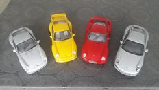 AUTOart / Motorbox / MT Model - Scale 1/18 - Lot with 4 models: 4 x Porsche