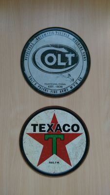 Texaco - Colt - US metal signs - Ohio -period: late 20th/early 21st century