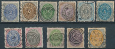 Denmark 1875/1901 - Selection Number in oval