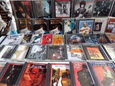 Blues and Jazz. Lot of 34 CD's or CD-boxes with Miles Davis, Gary Moore, John Coltrane and many others.