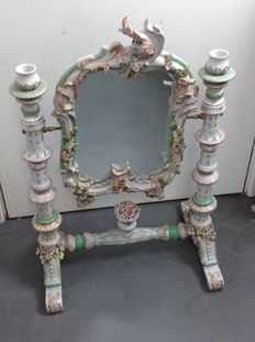 Porcelain mirror in rococo style