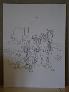 "Ticci, Giovanni - original illustration ""Tex"""