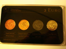 Netherlands - Precious Metal Set - 2 Euro '200 Years Kingdom' 2013 (4 different coins)