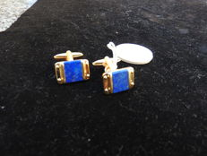 Christian Dior - cuff links - good condition- with inlaid lapis lazuli