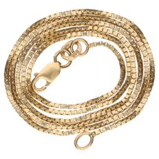Yellow gold, Venetian link necklace