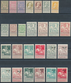 Belgium – 1894/1915 – Selection between OBP 68/70 and 134A