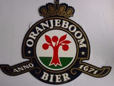 Large advertising sign ORANJEBOOM beer anno 1671 - period late 20th/early 21st century.