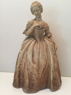 graceful lady, terracotta, second half of the 20th century