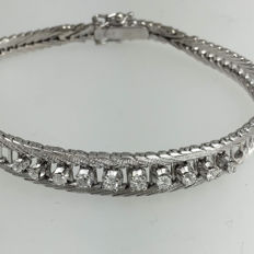 White gold bracelet with 0.35 ct of diamonds