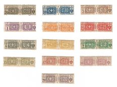 Kingdom of Italy 1914/25, 2 complete series Postal packages (7/19) and (20/23)