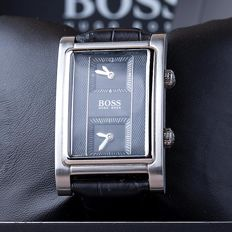 Hugo Boss Dual Time – men's wristwatch – in new condition 0206
