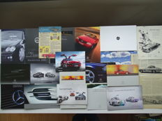 "1989 - 2012 - MERCEDES-BENZ ""SL Class"" / ""SL AMG"" / ""SL Brabus"" / ""SL Carlsson"" / ""SLS AMG"" Coupé & Roadster / etc - Mixed lot of 17 original sales brochures + 4 older ads"