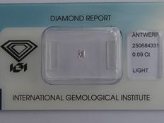 **Natural Fancy Pink Diamond 0.09 ct  with IGI cert ***No minimum price***