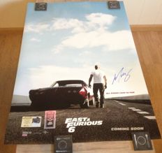 Fast & Furious 6 - signed poster - 27x40 inches - authentic signature autograph from Michelle Rodriguez