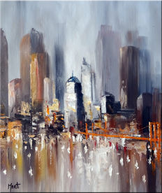 Jan Marti - brume sur New york