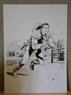 "Civitelli, Fabio - original illustration ""Tex"""