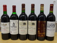 6 x Beautiful Cru Bourgeois from the Médoc and Haut-Médoc, from the good 90s vintages (details in description)