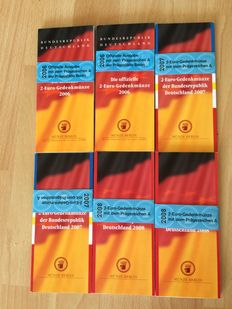 Germany - 6 x 2 Euros 2006 to 2008 in Coincard Berlin