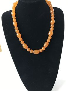Vintage Butterscotch Pressed Baltic Amber necklace, 48 grams.