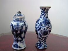 Two porcelain vases – China – 18th century