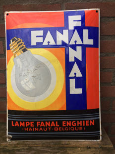 Enamel advertising sign - Fanal from 1931